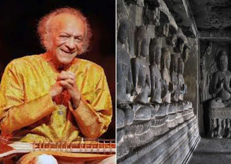 ellora caves world s best backdrop for pandit ravi shankar- India Tv