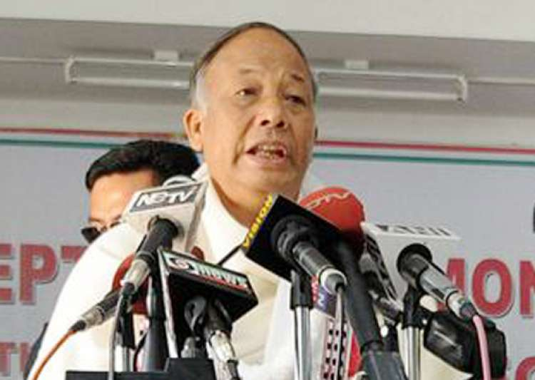 ibobi singh sworn in manipur chief minister- India Tv