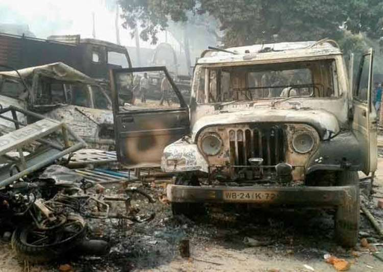 malda protest turns violent mob attacks police station sets- India Tv