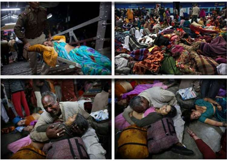 allahabad stampede toll 36 both up govt railways order probes ex gratia hiked- India Tv