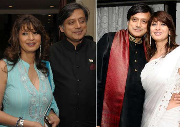 rare pictures of sunanda pushkar and shashi tharoor- India Tv