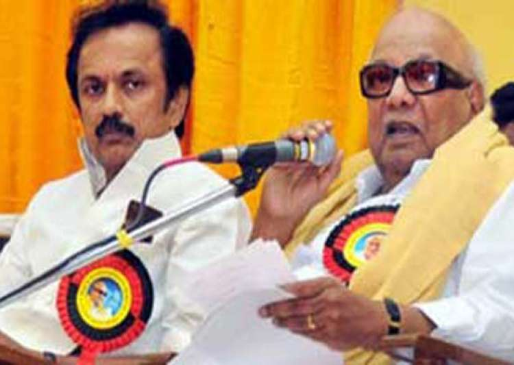 dmk chief karunanidhi finally names stalin his political- India Tv