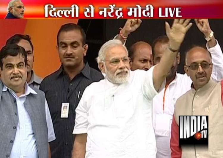 live narendra modi s delhi rally- India Tv