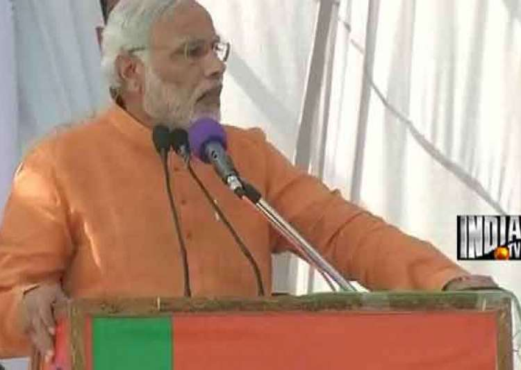 live narendra modi calls for debate on art 370 at jammu rally- India Tv