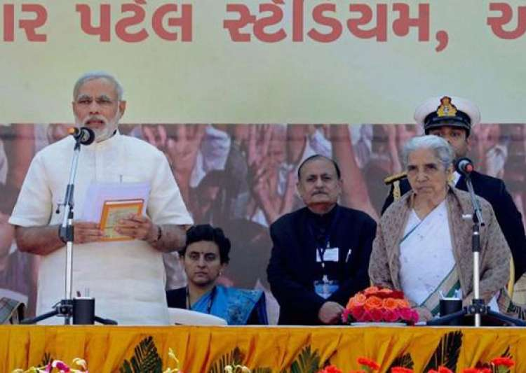 narendra modi takes charge of gujarat again for fourth term- India Tv