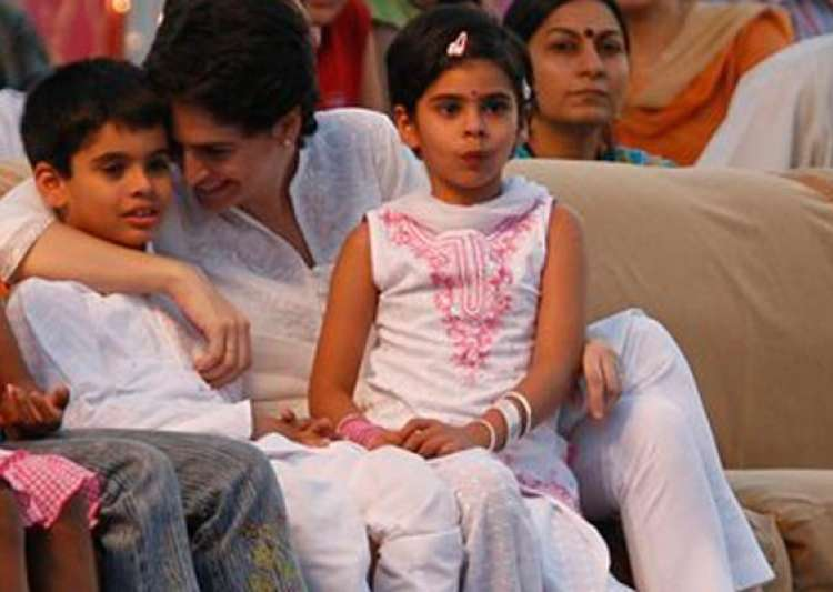 rare pictures of priyanka and robert vadra kids- India Tv