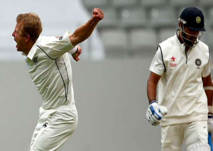 india new zealand first test india finishes day 2 on 130 4- India Tv