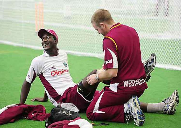 work on at frantic pace at windies warm up venue- India Tv