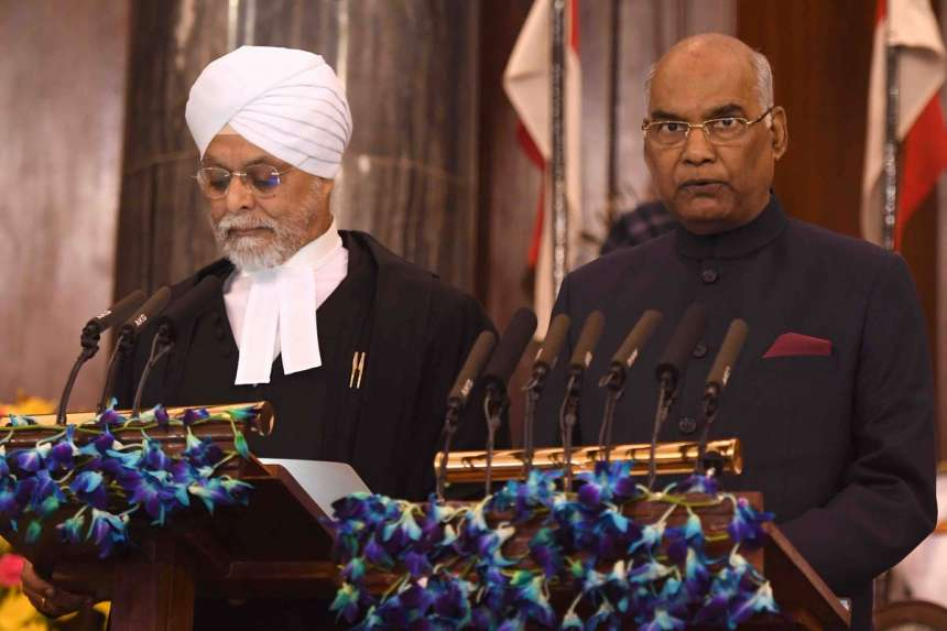 CJI Justice JS Khehar administers oath of office to Ram Nath Kovind as the 14th President of India