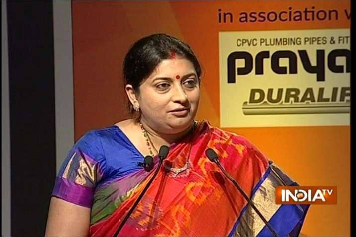 Smriti Irani in India TV Conclave