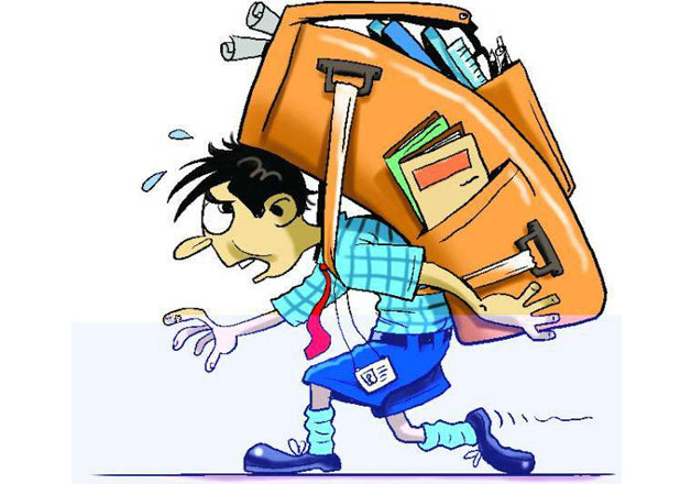 two class vii students hold press conference on school bag woes luggage clipart travel png luggage clipart gif