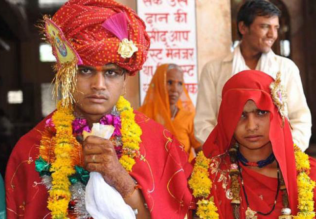 Nearly 12 million Indian children were married before the