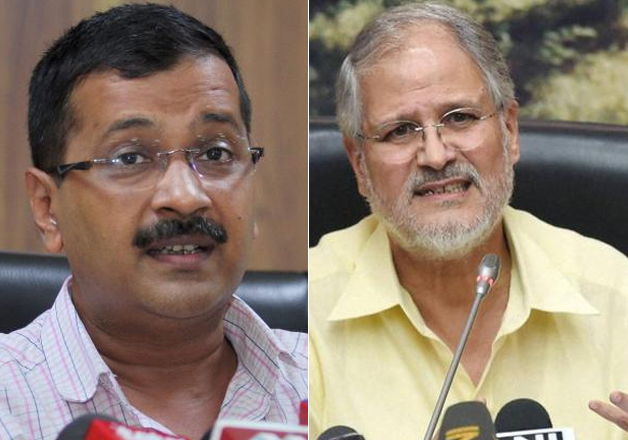 File pic of CM Kejriwal and LG Najeeb Jung.