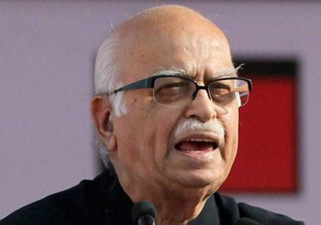 File pic of LK Advani speaking at an event.