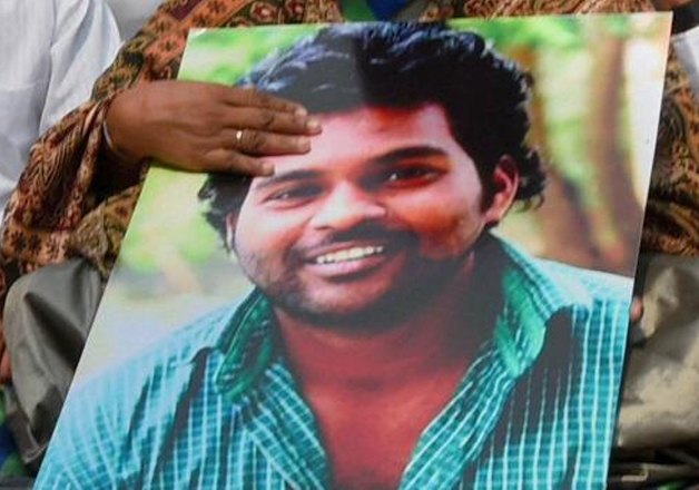 File pic of University of Hyderabad scholar Rohith Vemula