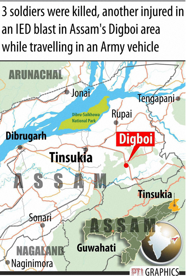 India Tv - Three jawans martyred in Assam