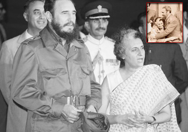 When Fidel Castro gave a bear hug to a surprised Indira