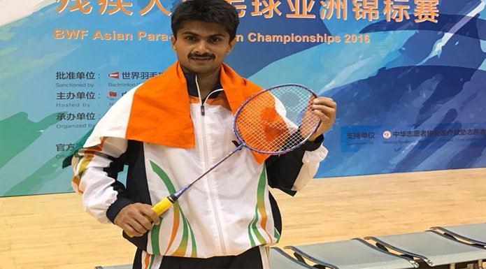 India Tv - Azamgarh DM Suhas LY wins gold in Asian Para Badminton Championship