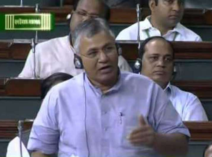 Minister of State for Law P P Chaudhary in Lok Sabha