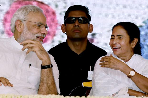 PM Modi with Mamata Banerjee