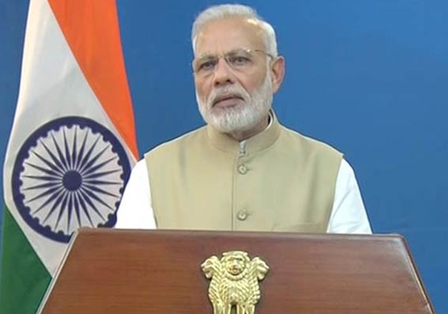 File pic - PM Narendra Modi addressing nation on Nov 8