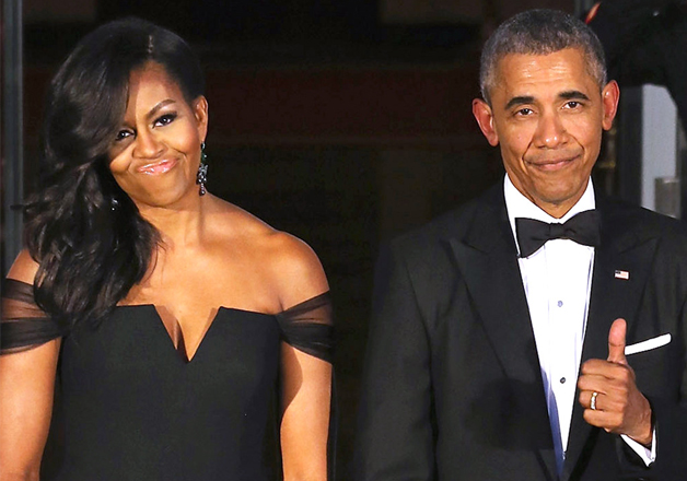 File pic - Michelle Obama and Barack Obama