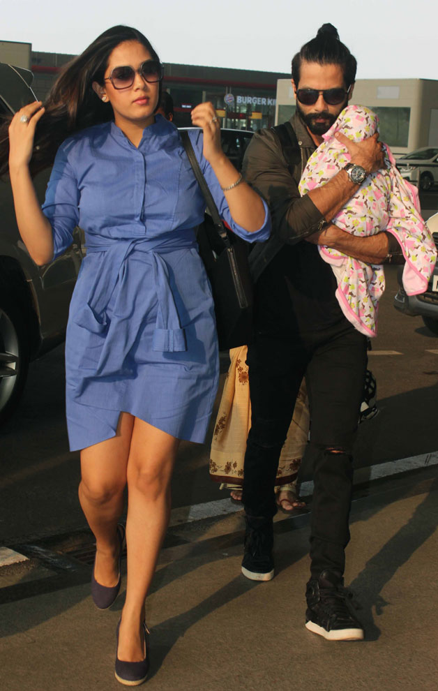 India Tv - Mira Rajput goes on a holiday with Shahid and daughter Misha