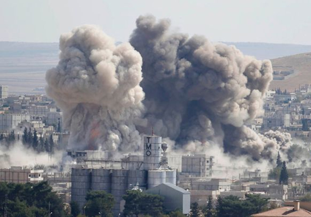 File pic - US-led coalition launched airstrike in Syria