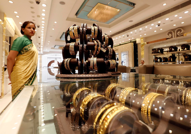 File pic - An inside view of a jewellery shop in Delhi