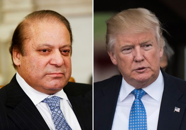 File pic - Nawaz Sharif, Donald Trump