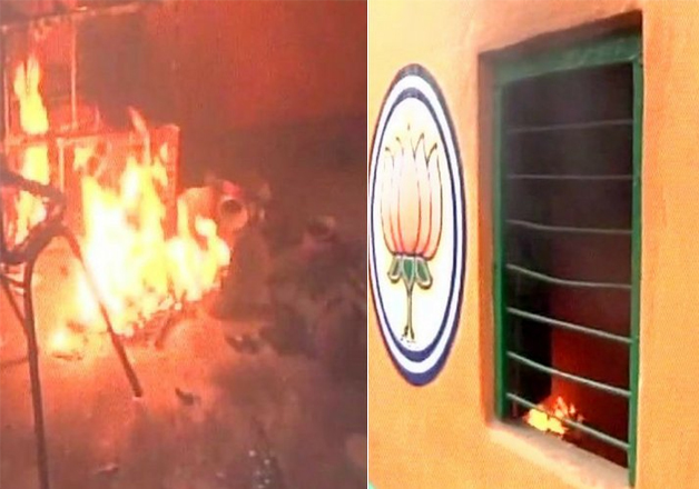 TMC workers step up offensive, set BJP office in Hooghly on