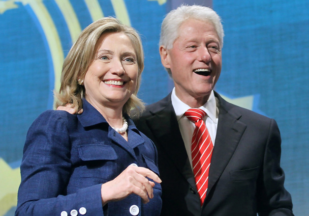 File pic - Bill Clinton and Hillary Clinton