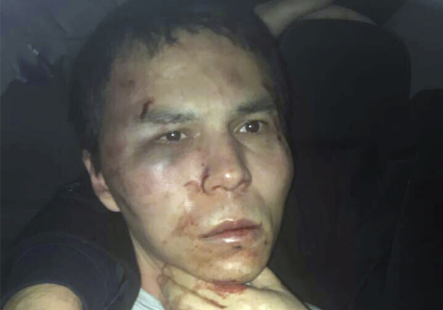 Reina club attacker after being caught by Turkish police
