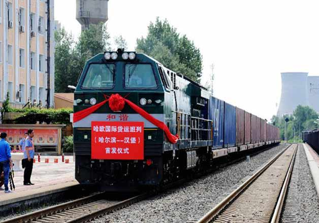 Chin launches freight train to London