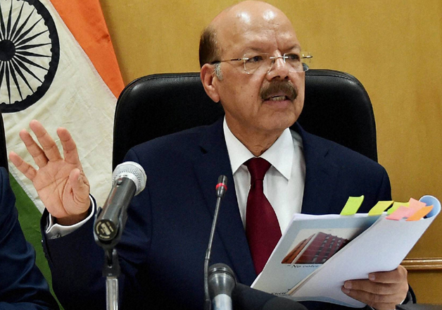 Chief Election Commissioner Nasim Zaidi speaks to media in