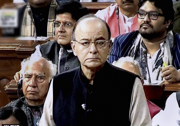 Finance Minister Arun Jaitley tabling the Union Budget for