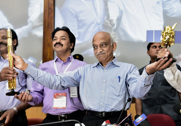 File pic - Kiran Kumar speaks after successful launch of