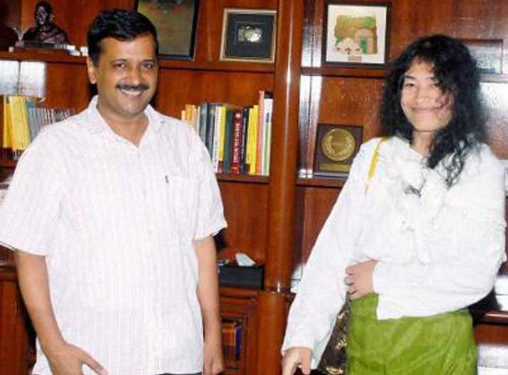 Arvind Kejriwal donates Rs 50,000 to Irom Sharmila's party