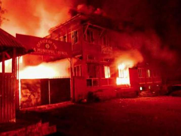 Nagaland violence spreads to Kohima, govt buildings torched