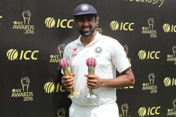Ashwin receives Garfield Sobers Trophy for bagging ICC