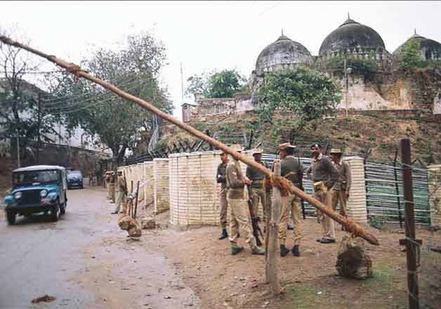 India Tv - File pic - Police personnel outside Babri Masjid