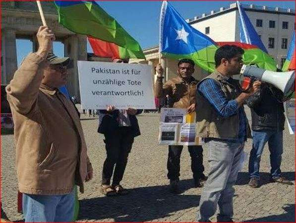 Baloch protesters