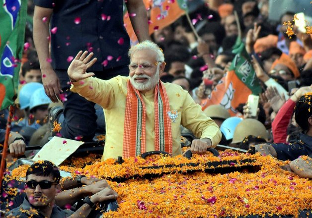 File pic - PM Narendra Modi road show in Varanasi