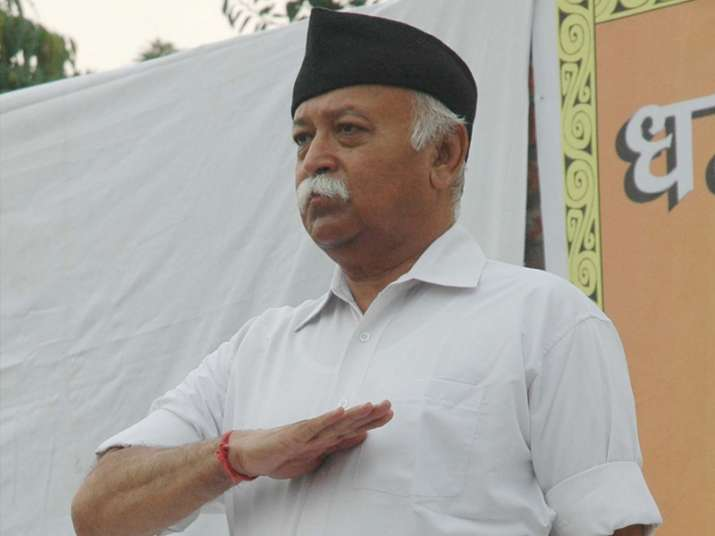File pic of RSS chief Mohan Bhagwat