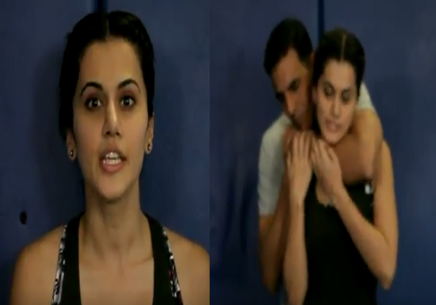 Akshay kumar and Taapsee Pannu women safety video