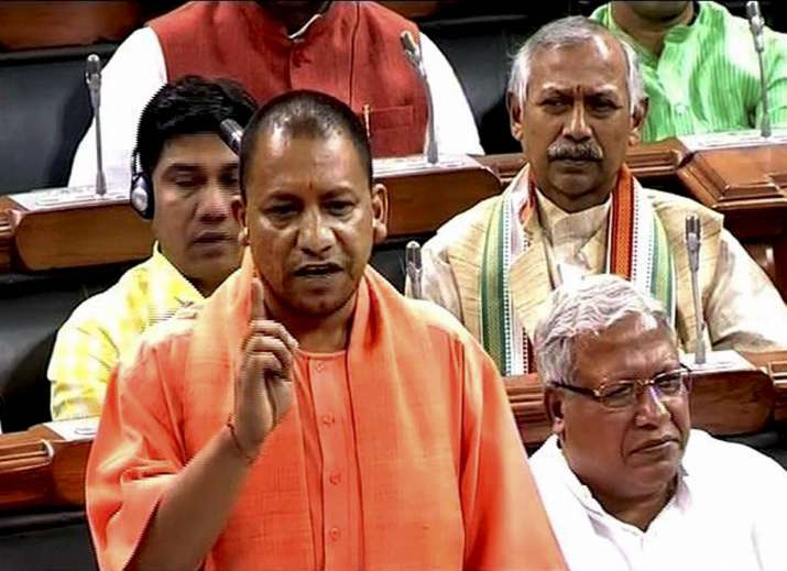 Yogi Adityanath makes surprise visit to Lok Sabha