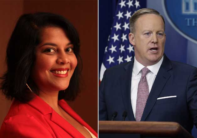 Sree Chauhan and Sean Spicer