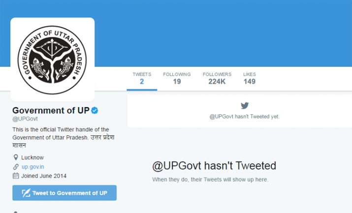India Tv - Tweets have been deleted from UP govt official twitter handle