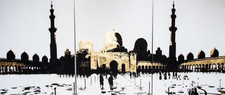 India Tv - painting made up of sand and gold