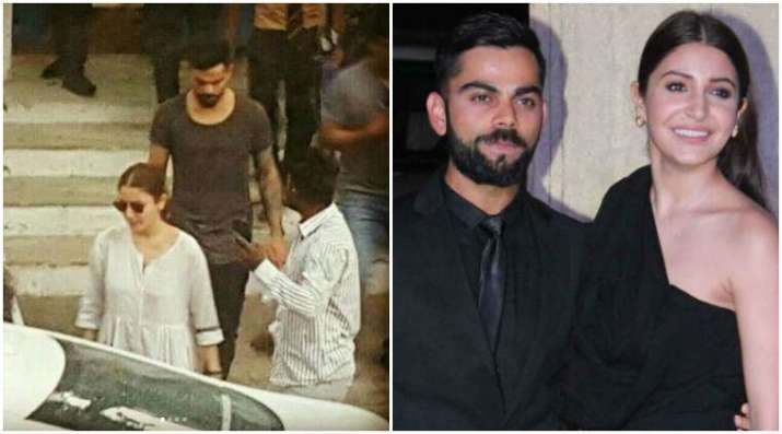 India Tv - Anushka Sharma cheers up injured Virat Kohli in Bengaluru